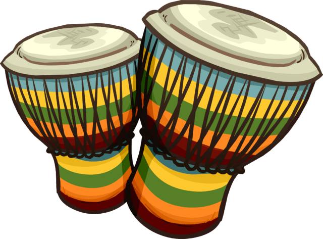 Coloured Congas transparent PNG.