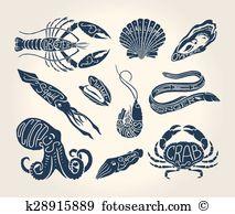 Conger eel Clipart Vector Graphics. 8 conger eel EPS clip art.