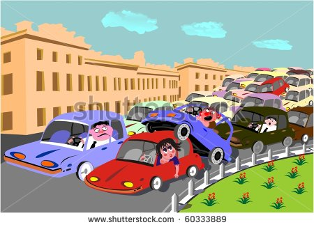 Traffic congestion clipart.