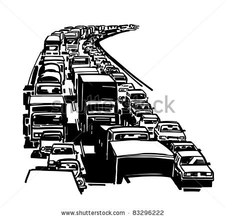Road congestion clipart.