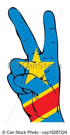 Vector Illustration of Peace Sign of the Congo flag csp15287224.