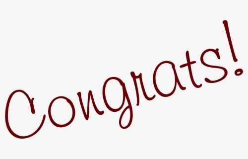 Free Congrats Clip Art with No Background.