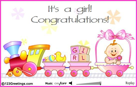 Congrats ~ It's a Girl.