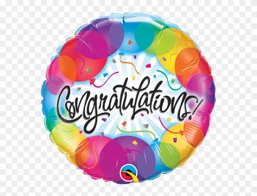 Colourful Balloons Congratulations.