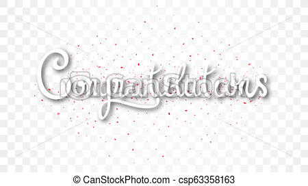 Congratulations banner , isolated on transparent background.