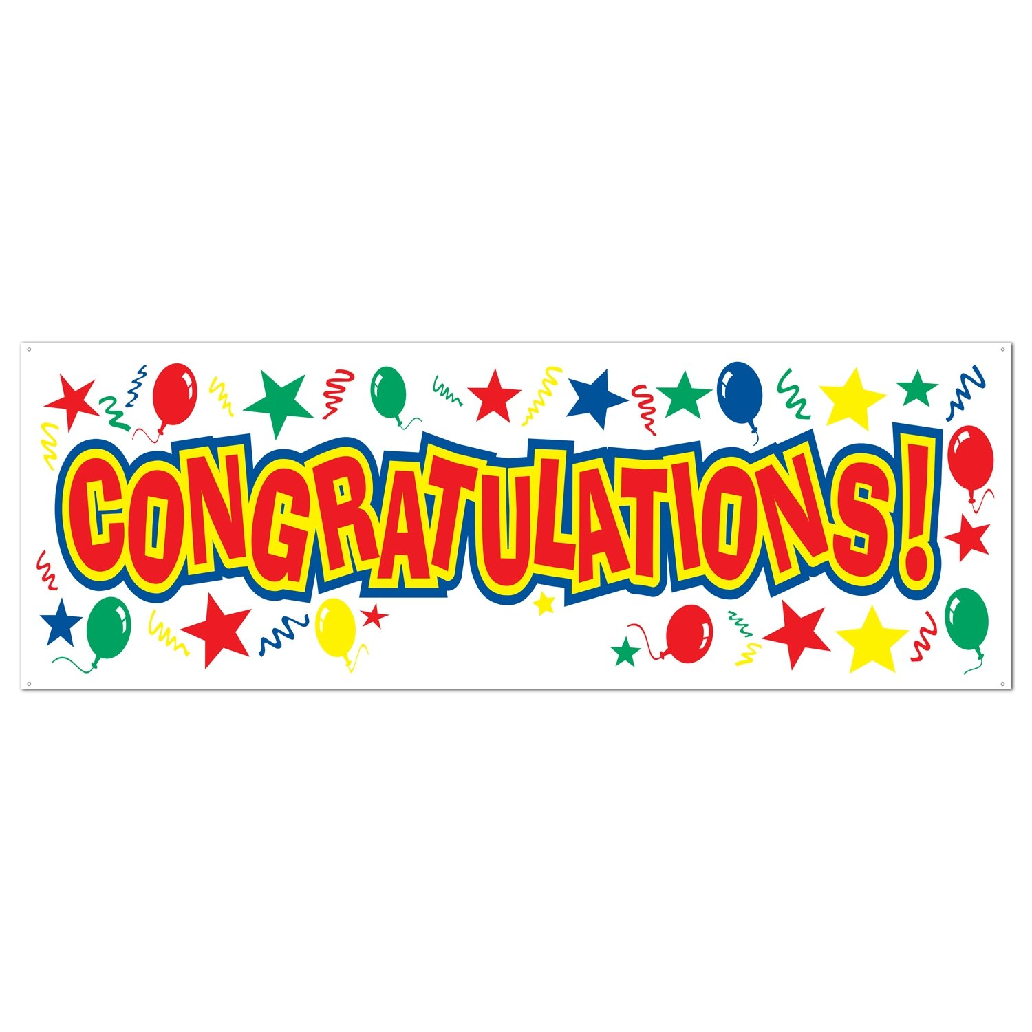 Congratulations Sign Banner Party Accessory (1 count) (1/Pkg).