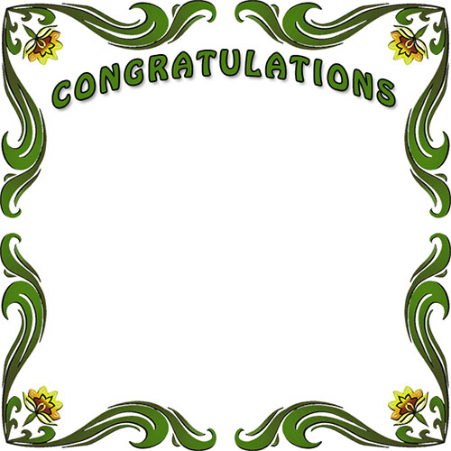 Free congratulations borders congratulation border clip art.
