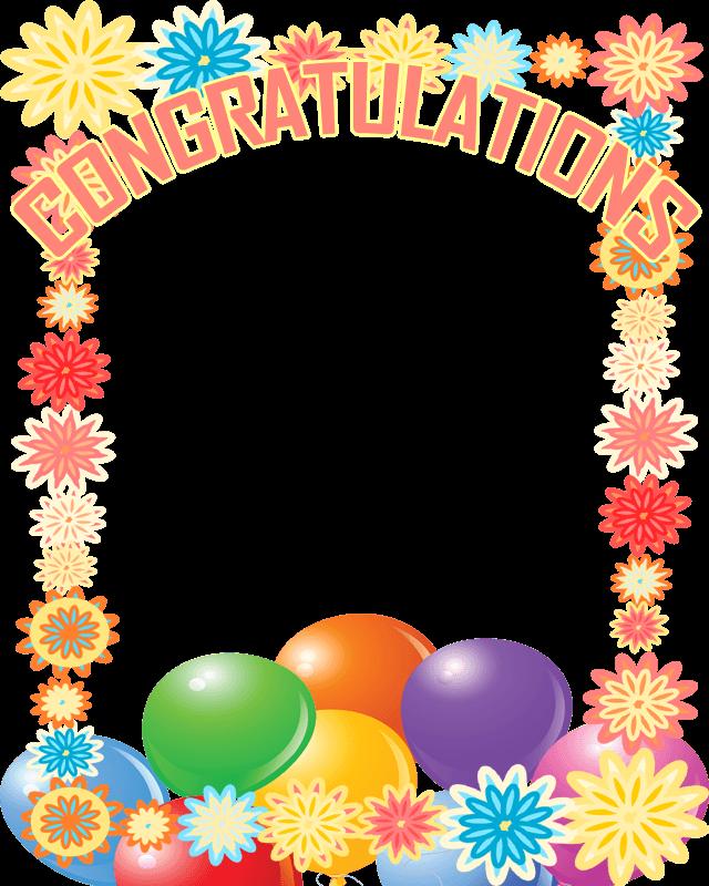 Congratulations Border Clip Art.
