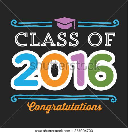 Class 2016 Congratulations Graduation Vector Student Stock Vector.