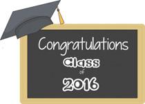 Congratulations Class Of 2016 Clipart Banner.