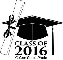 Vector Illustration of Graduation sector set Class of 2016.
