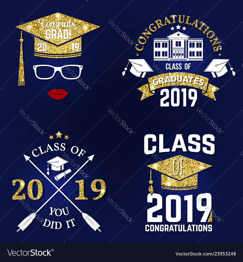 Class of 2019 badge concept for shirt.