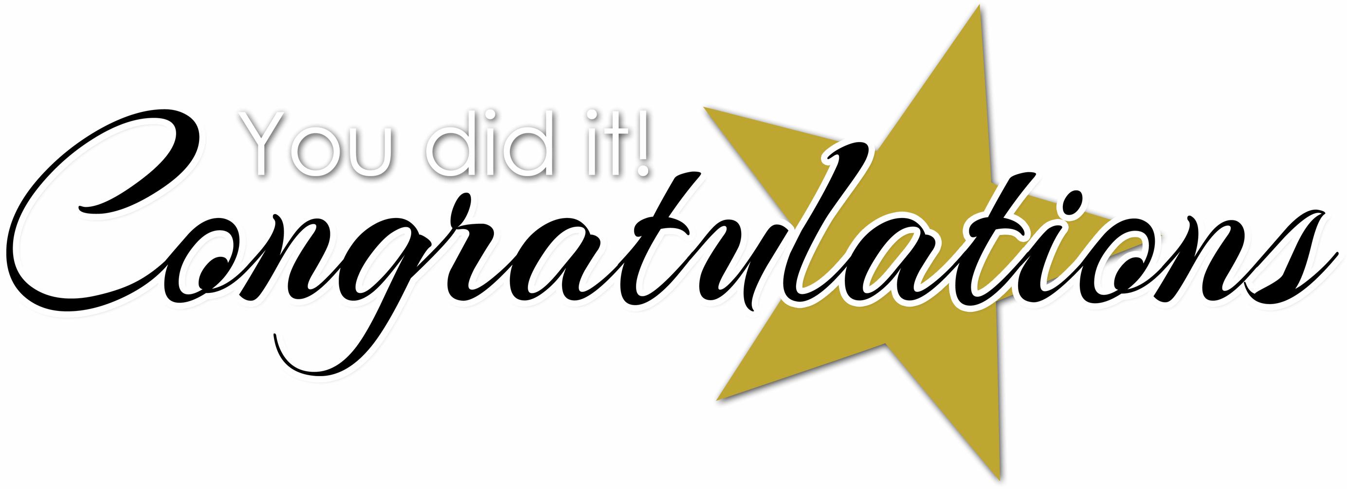 Congratulations Clipart.
