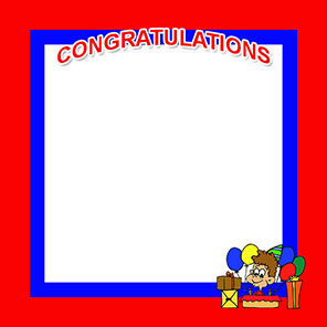 Free Congratulations Borders.