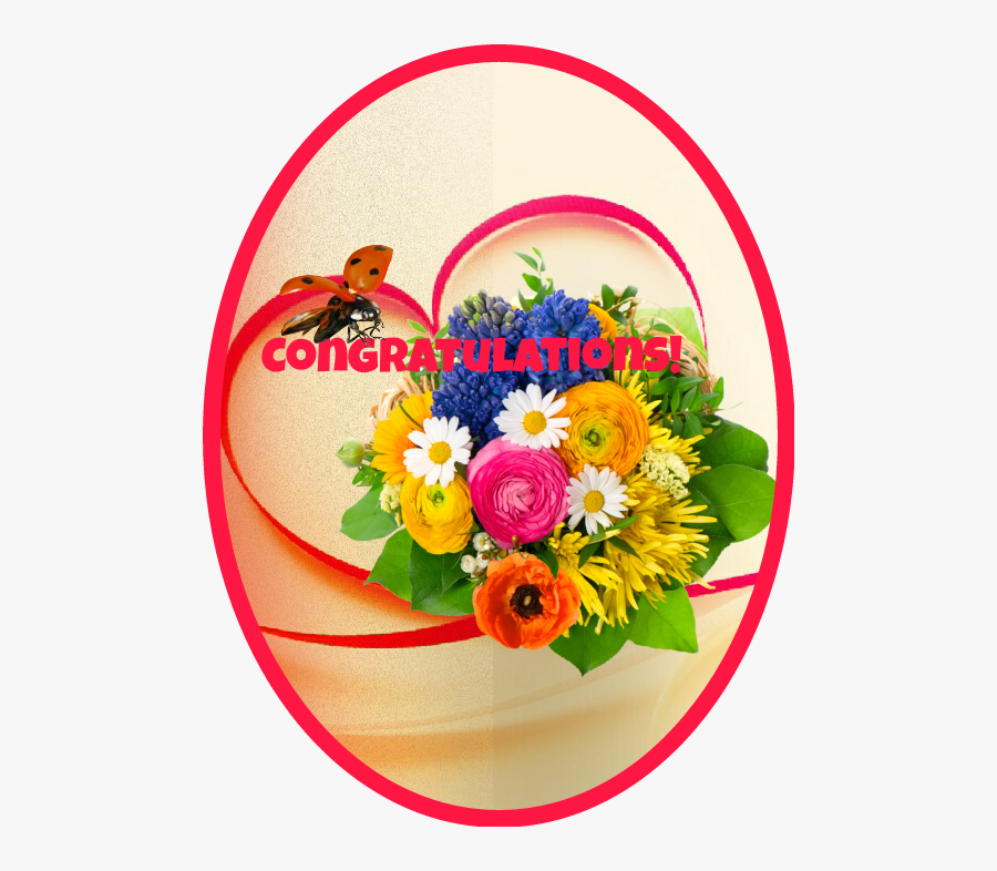 Transparent Congratulations Images With Flowers Png.