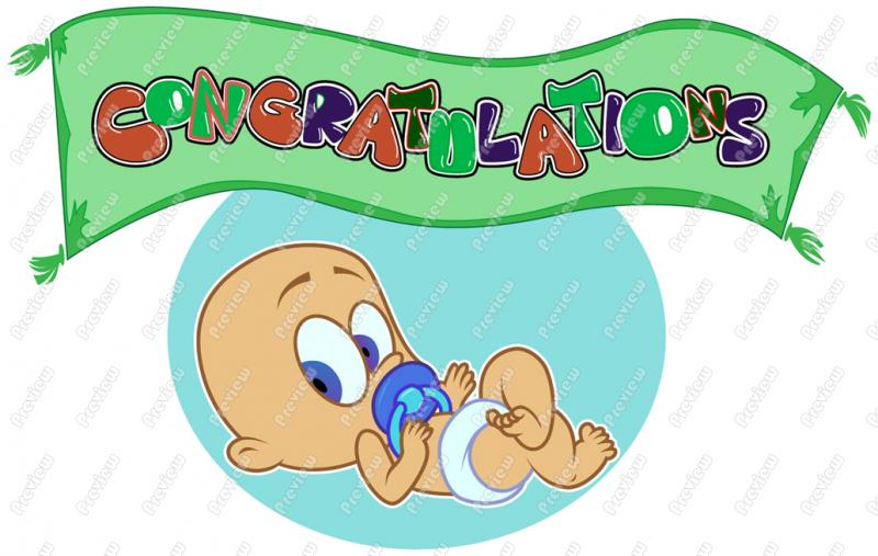 Baby Congratulations Clipart Free.
