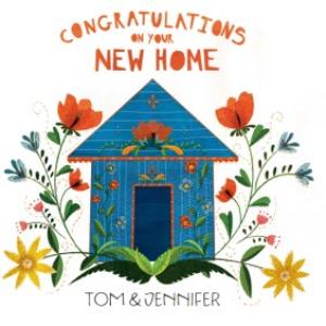 Sunny Flowers Congrats On Your New Home Card.