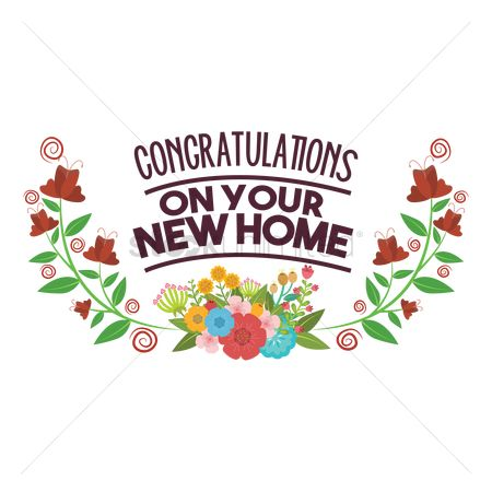 Free Congratulation On Your New Home Stock Vectors.