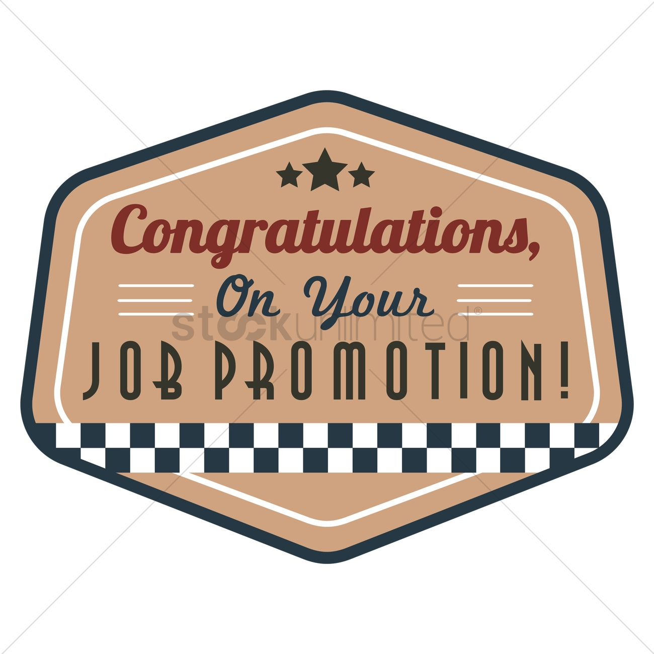 Congratulations, on your job promotion Vector Image.