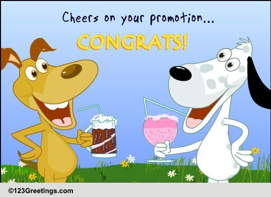 Cheers On Promotion Free Promotion eCards, Greeting Cards.
