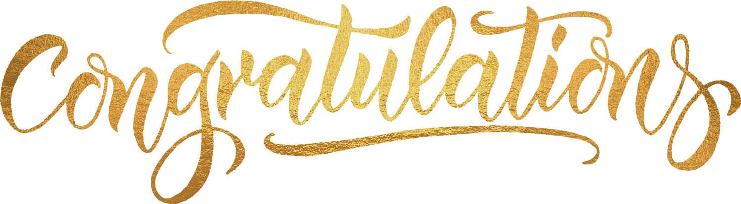 Download HD Ftestickers Text Typography Congratulations Gold.