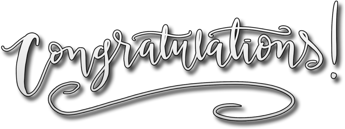 HD Congratulations Tassle Typography Png.