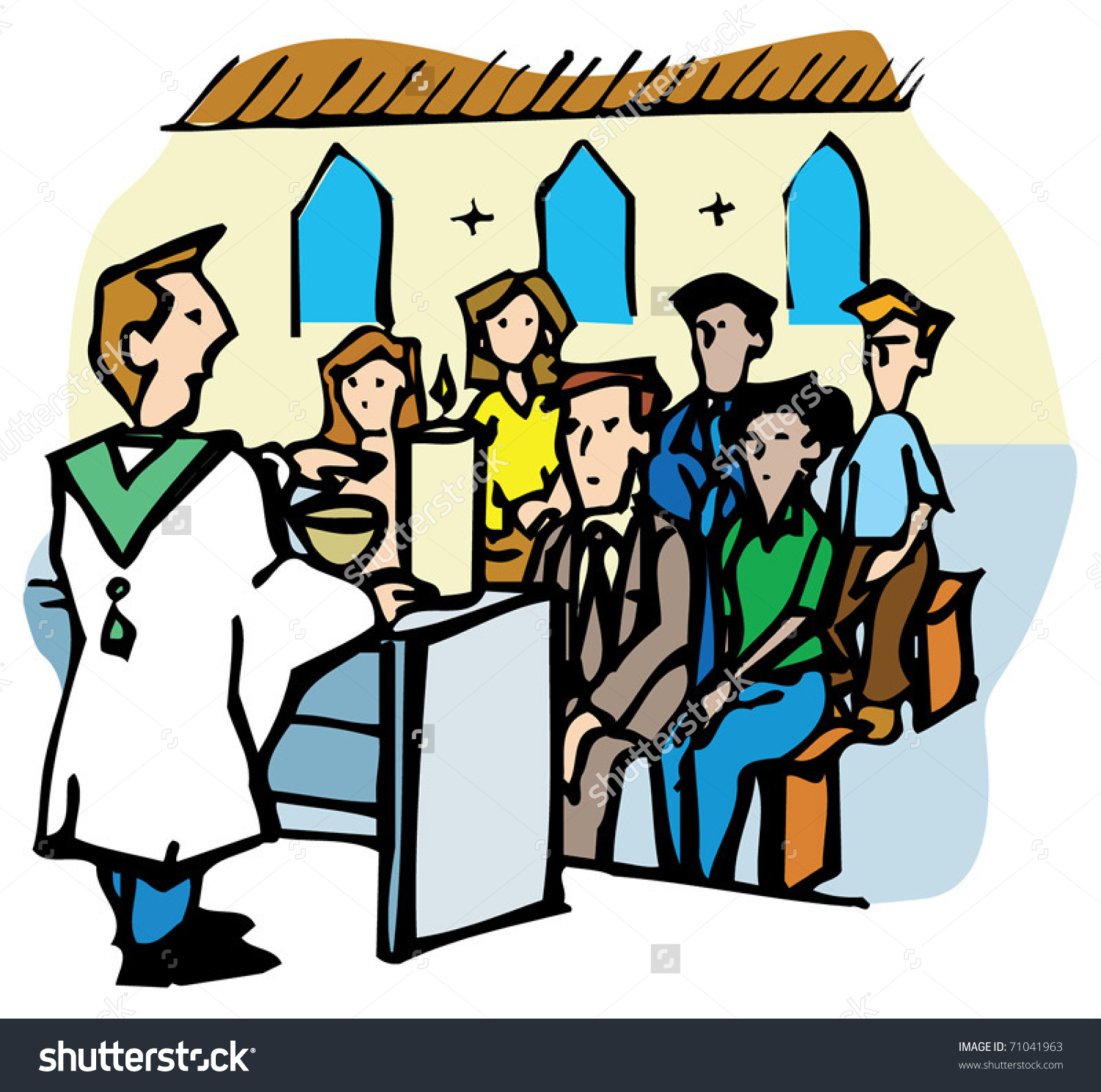 Congregation Prayer Images Clipart.