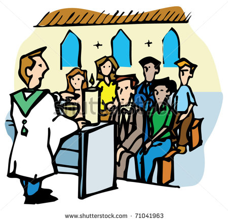 Congregation Singing Clipart.