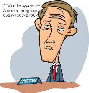 Clipart Illustration of a Congressman.