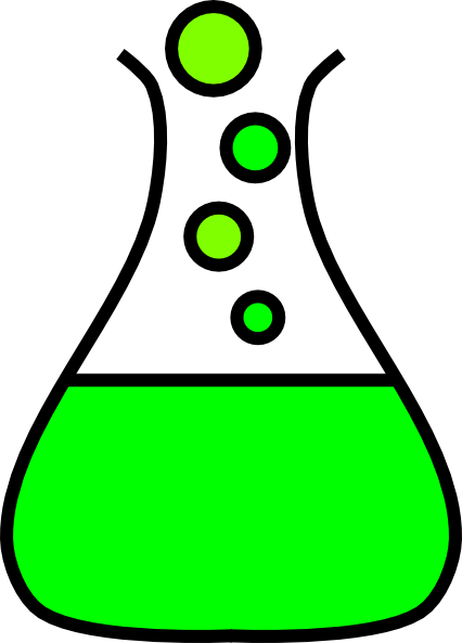 Conical flask clip art.