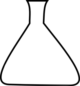 Blank Erlenmeyer Flask Clip Art at Clker.com.