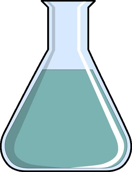 Erlenmeyer flask clip art.