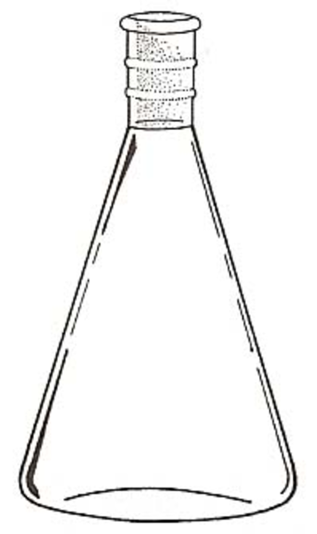 Conical flask clipart #6