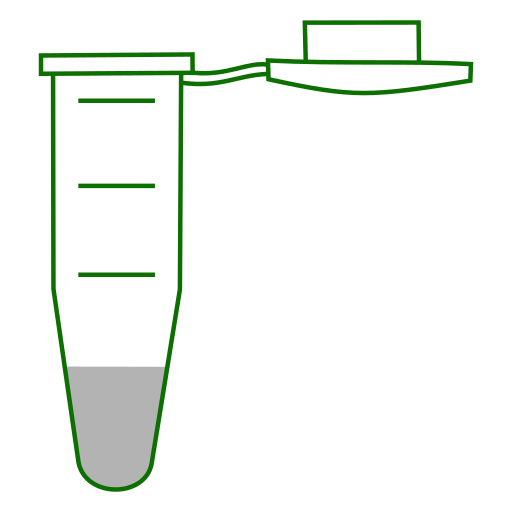 Empy Eppendorf tube with conical bottom and snap cap open.