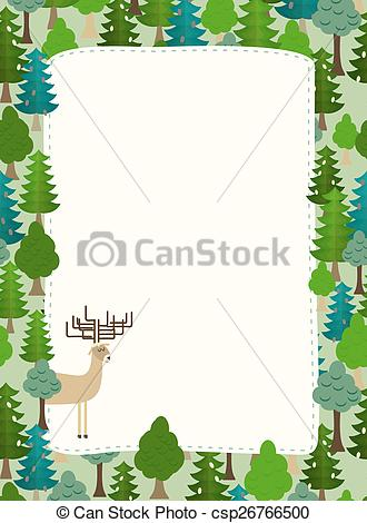 Vector Clipart of conifers pattern..
