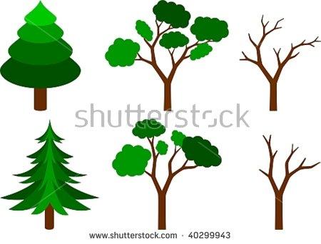 Coniferous Tree Stock Photos, Royalty.