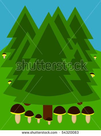 Coniferous Trees Stock Vectors & Vector Clip Art.