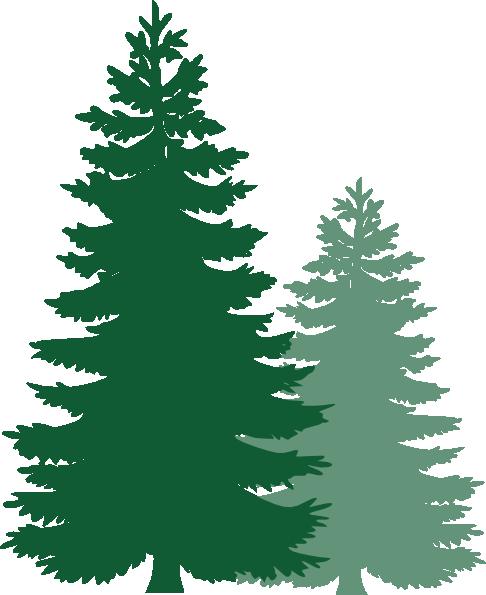 Coniferous Trees Clipart.