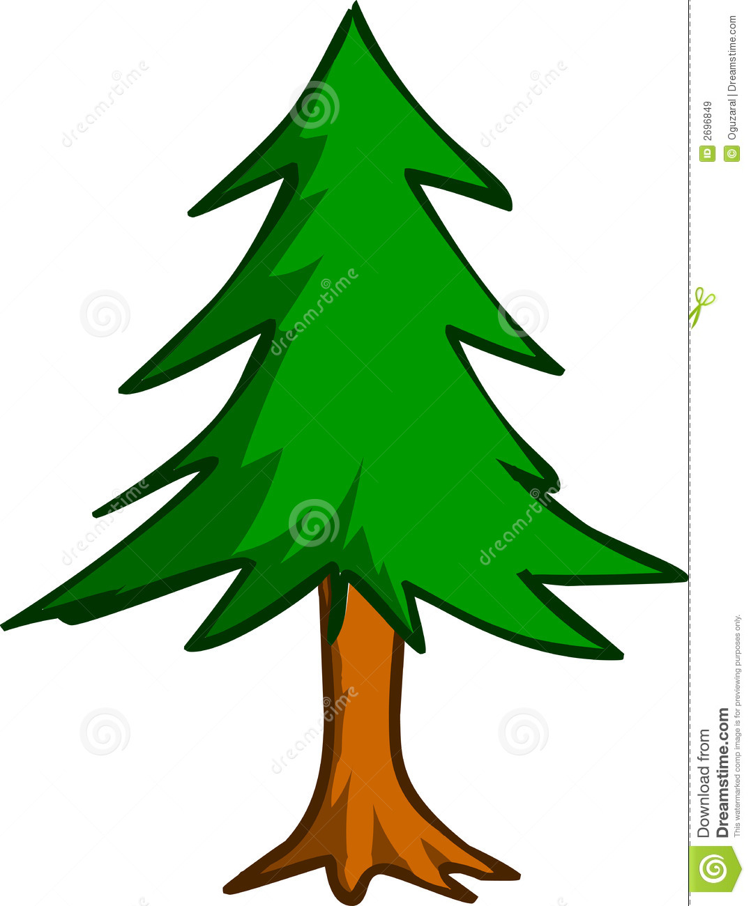 Forest Pine Tree Clipart.