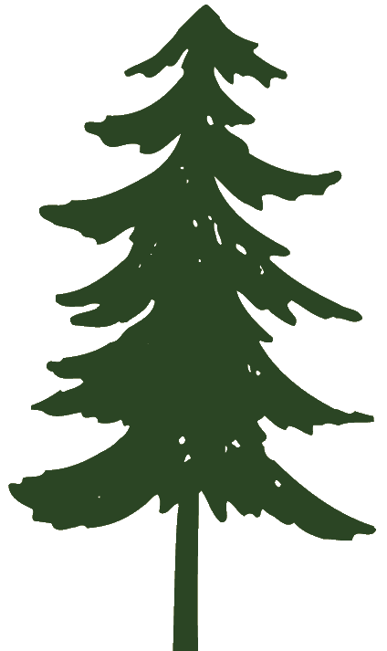Primitive Pine Tree Clipart.