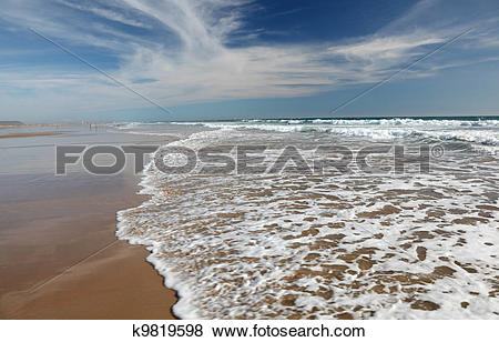 Pictures of Atlantic ocean beach at Conil de la Frontera.
