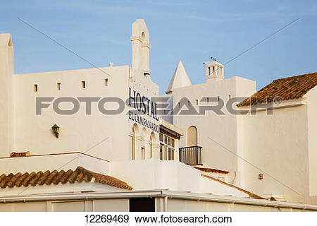 Stock Photograph of Hostel on the Atlantic Coast; Conil de la.