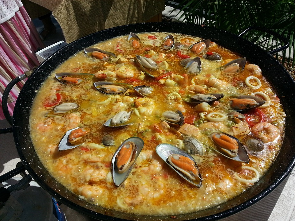Free photo: Valencian Paella, Paella.