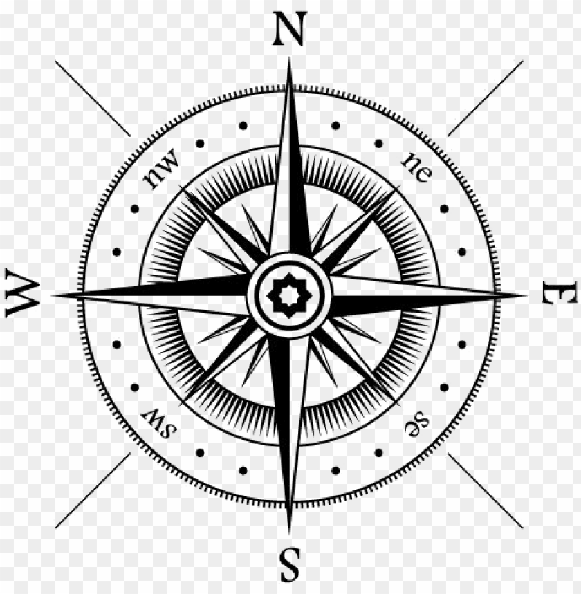 compass clipart north star.