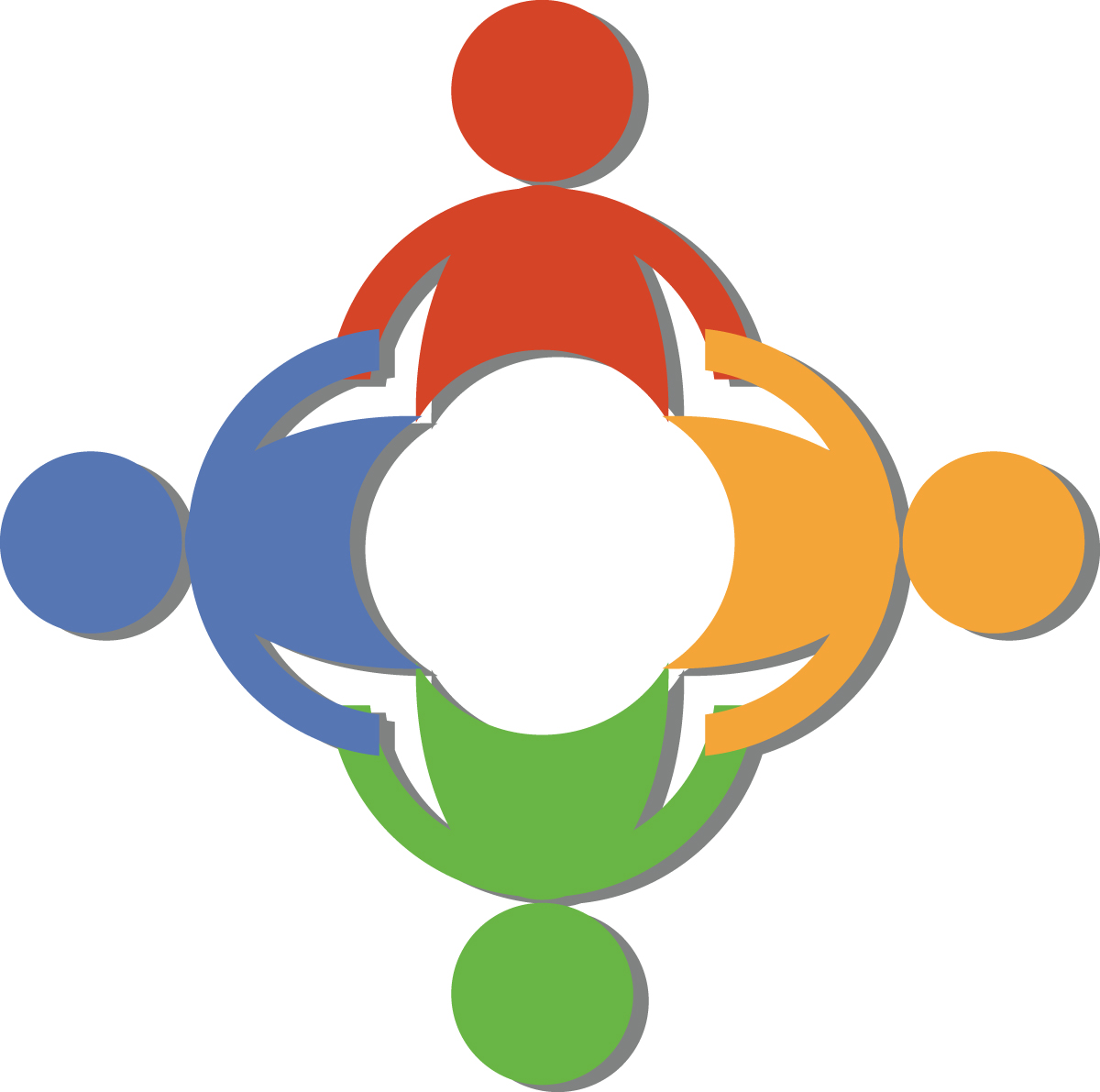 People circle connect clipart.