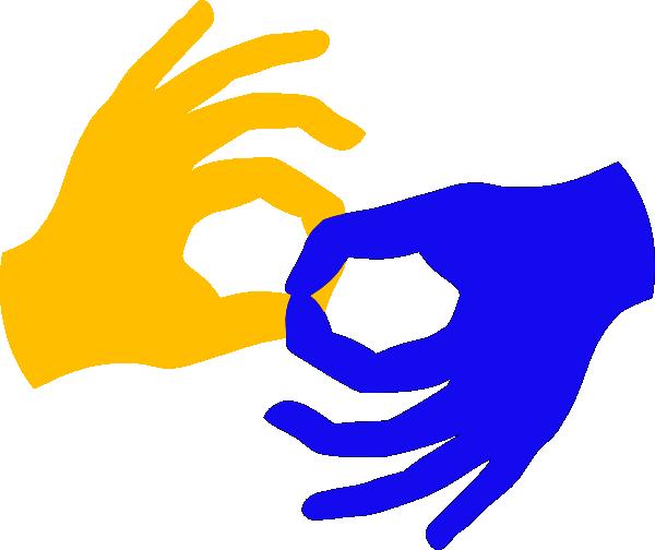 Connect Sign Language Clip Art at Clker.com.