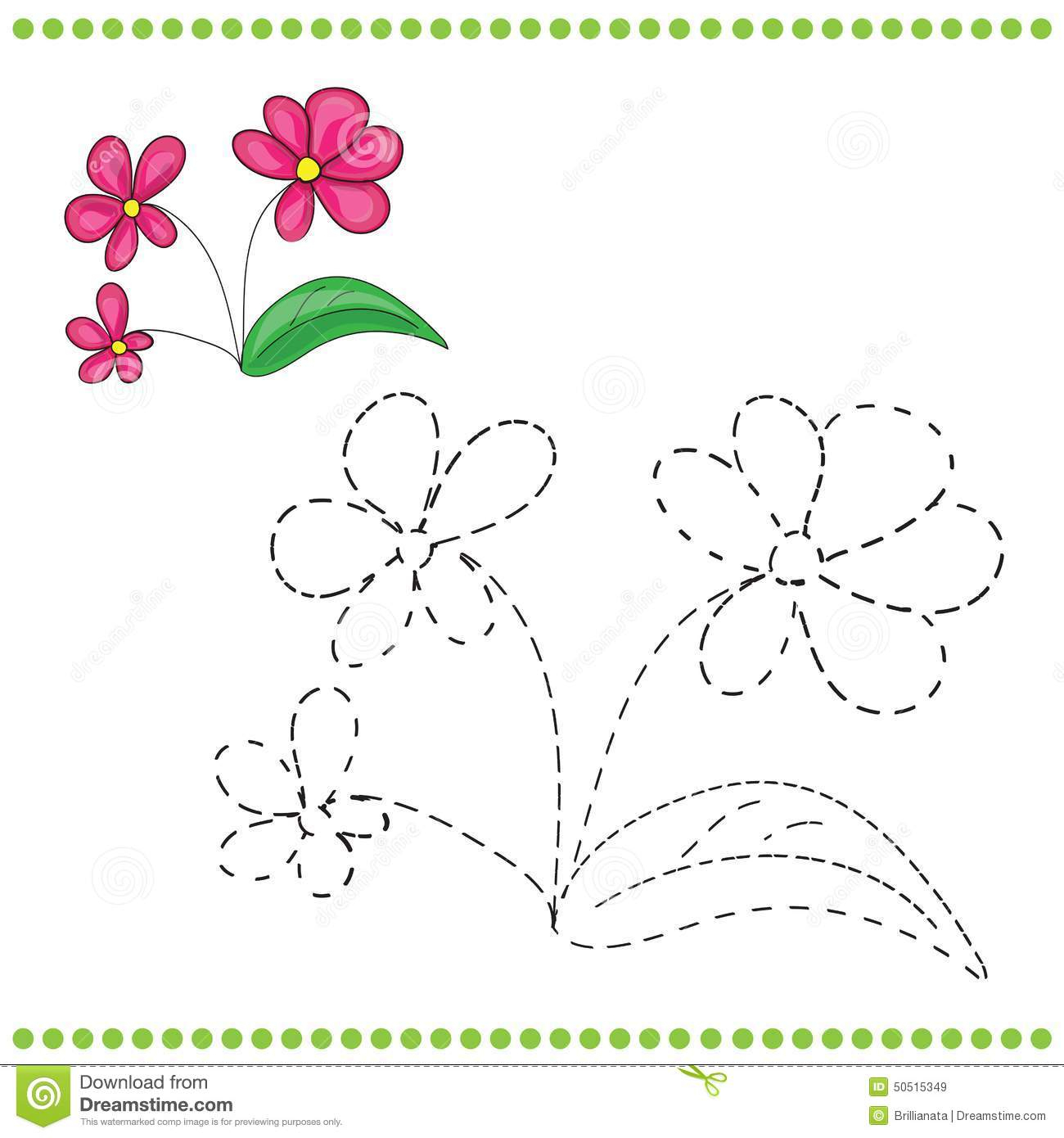 Connect The Dots Flower Flower Easy Dot To Dot Coloring Pages For.