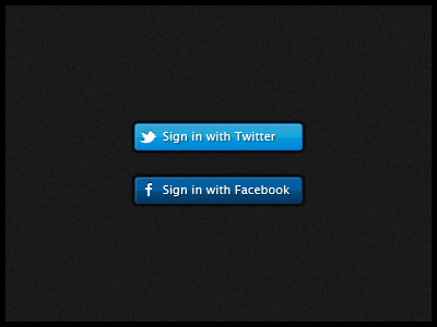 Facebook & Twitter Sign In Buttons Clipart Picture.
