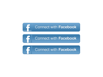 Facebook Connect button in CSS3 by Mark Bult on Dribbble.