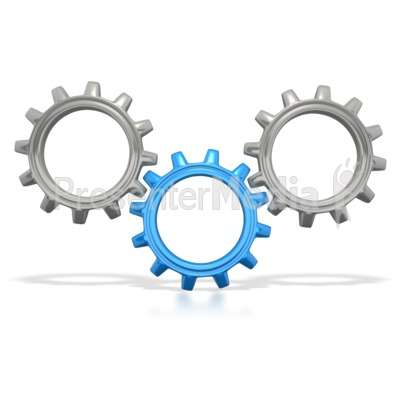 Three Gears Connected.